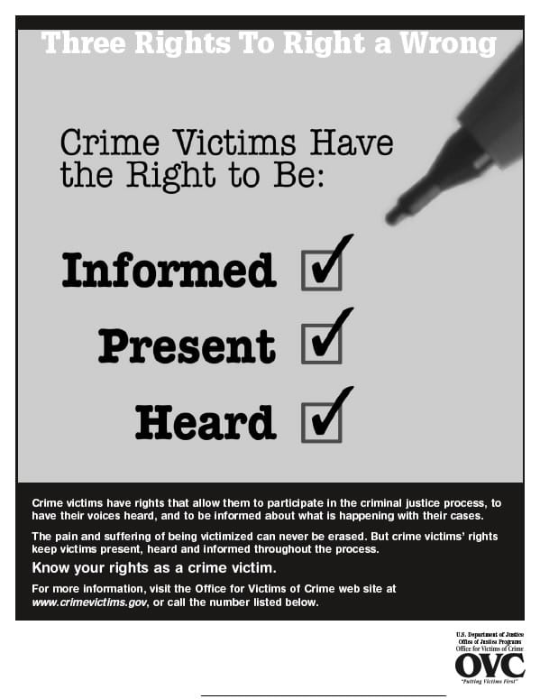 Cime Victimes Have A Right To Be Informed, Present, and Heard